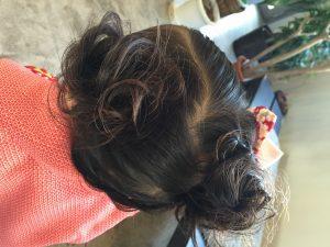 三歳らしい髪型に❤️ もちろん、今回も、すき毛をいれて❤️