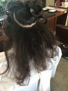 しっかり、逆毛をたてて✨