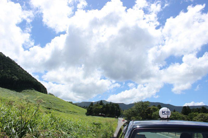 タクシーの運転手さんに途中止めて写真を撮らせてもらいました🙆🏻♀️